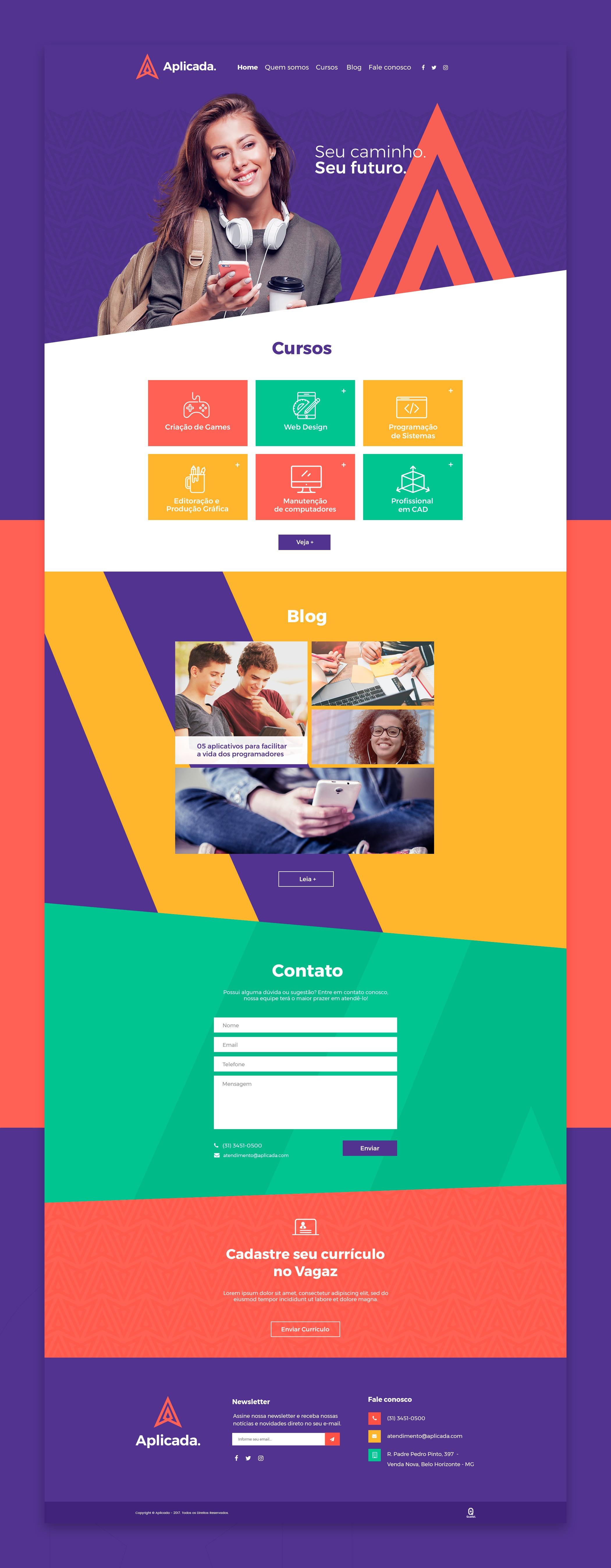 Site Cursos Online Aplicada